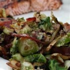 Shaved Brussels Sprouts with Bacon and Almonds - Brussels Sprouts are shredded like cabbage and quickly sauteed in bacon drippings with garlic and almonds.  This recipe has made Brussels sprouts lovers out of haters.