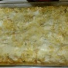 Chicken Divan Lasagna - A creamy chicken, broccoli, and Swiss cheese casserole is layered lasagna-style and baked.