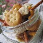 Dana's Party Mix - Assorted crackers, nuts and pretzels tossed with butter flavor popcorn oil and ranch dressing mix.