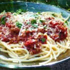 World's Best Pasta Sauce! - This meaty tomato sauce is great on your favorite pasta dish!
