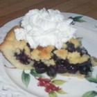 My Grandmother's Best Berry Pie - A homemade sweet pastry dough is pressed into a pan. Then it 's filled with blueberries and topped with more of the crumbly dough. Bake in a hot, hot oven and enjoy this berry-good treat with generous scoops of vanilla bean ice cream.
