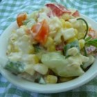 Cold Corn Salad - Cold salad is made with corn and peppers. You will be proud to take with you for any holiday occasion!