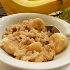 Good-Morning Banana Nut Cereal - Quinoa, rolled oats, and oat bran are cooked into a delicious hot cereal with banana and walnuts to help satisfy you and keep you full.