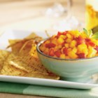 Mango-Strawberry Salsa - A refreshing summer salsa for those who want something not so spicy. Extremely easy and very flavorful.