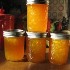 Ginger-Peach Jam - Crystallized ginger adds a tasty bite to this sweet peach jam. Reduce the amount of sugar if your peaches are really ripe.