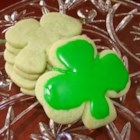 Irish Shamrock Cookies - These green cookies are delicious anytime of the year. Make some green frosting for these cookies using a sugar cookie icing recipe found on Cookierecipe.com