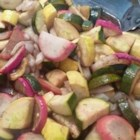 Broiled Summer Squash With Radish