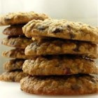 Applesauce Oatie Cookies - Chewy oatmeal cookies full of nuts, raisins and chocolate chips.