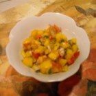 Easy Mango Salsa - This very tasty and simple mango salsa uses both lime juice and orange juice.