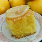 Lemon Lu Lu Cake - A wonderfully tangy and moist glazed lemon cake. Quick and easy to prepare!