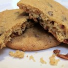Maple-Bacon Chocolate Chip Cookies - This recipe was born out of a challenge to include bacon in a cookie batter. While that has been done before, the inclusion of chocolate chips and maple together in a whipped batter make this a sweet-yet-savory chewy cookie treat!
