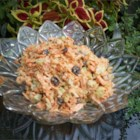 A Different Carrot Raisin Salad - My carrot salad has a little twist to it ... coconut! I hope you enjoy it as much as my friends and fiance do.
