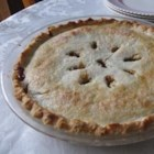 Old Fashioned Raisin Pie I - Raisins are plumped in water, and brown sugar, cornstarch, cinnamon, vinegar and butter are stirred in. The filling is poured into a pastry shell, covered with a top crust, and baked in a hot oven for 30 minutes. Cool and serve with ice cream.