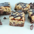 Karen's Cookie Dough Brownies - Cookie dough brownies combine two childhood classics into one sweet indulgence. Rich chocolate brownies are topped with an egg-free cookie dough and finished with a chocolate glaze.