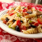 Pizza Salad II - This pasta salad has all the standard ingredients of a deluxe pizza!