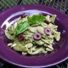 Yummy Vegan Pesto Classico - This is a classic recipe I use and love. Nutritional yeast is substituted for the traditionally used dairy. Tasty on pasta, bread, sandwiches, omelets, etc. Try adding sun-dried tomato slices post-completion for an added boost of rich flavor. P.S. - It also freezes beautifully.