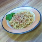 Cold Spaghetti - This incredibly fresh and simple pasta salad features spaghetti coated in a pureed sauce of ripe red tomatoes, real garlic and fragrant, fresh basil.