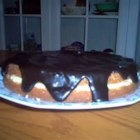Boston Cream Pie II - Yellow cake filled with custard and topped with chocolate icing--yummy!