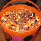 Raisin' the Dead Snack Mix - This is a fun and festive fall party mix that my family and friends look forward to every year about the time you see the candy corn show up in the grocery store. This makes a huge batch.