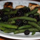 Fresh Oregano and Blackberry Green Beans - This super-easy side dish utilizes the bounty of late summer and is the perfect companion to whatever you are grilling - in fact, the stove can be turned on while the meat is resting from the grill.  The sweet acidity of the berries balances the entire meal, and the fresh oregano brings out the best of both the berries and the beans.  It's a beautiful, unusual side dish that leaves guests, and even finicky family, raving.
