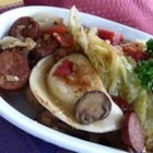 Cabbage, Polish Sausage, and Pierogies