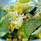 Garlicky Summer Squash and Fresh Corn - A delicious and different way serve two favorite summer vegetables, squash and corn!
