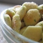Ranch Oyster Crackers - These oyster crackers seasoned with packaged Ranch salad dressing mix are an easy-to-make and easy-to-eat snack for any party occasion.