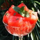 French Watermelon - Watermelon, vodka, sugar, and fresh mint are all you need to make this fun summertime recipe.