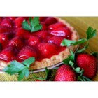 Two Tier Strawberry Pie - A layer of cream cheese makes a delicious twist under a succulent mound of glistening fresh strawberries.