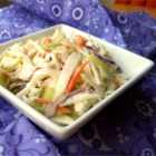 Kohlrabi Slaw - This classic creamy coleslaw is loaded with cabbage, kohlrabi, celery, carrots, and onion!