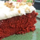James Gang Red Velvet Cake - This red velvet cake, topped with thick and fluffy frosting, coconut, and chopped nuts, is a family treasure that's been handed down for generations.