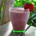 California Smoothie - Strawberries are frozen, then blended with lemon yogurt and orange juice.