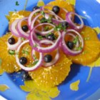 Orange and Onion Salad - Orange slices, red onion, and black olives are simply dressed in this tangy salad.