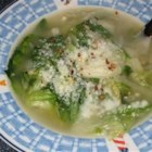 Escarole and Bean Soup - Escarole (endive) and garlic infuse this navy bean soup with flavor.