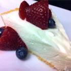Lemon Mousse Pie - A light lemon mousse made with cream cheese and whipped cream and stabilized with gelatin. Perfect for summer!