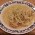 Simple Chicken and Noodles - This is a recipe my grandmother used. She lived on a chicken farm, so it is as basic and simple as it can get. Usually all we have to accompany this recipe is mashed potatoes.  It's really nice on cold days and extremely cheap to make.