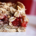 Cherry Crunch - Cherry pie filling is lovingly sandwiched between 2 layers of crunchy oaty goodness. Substitute apple pie filling and sprinkle a little extra cinnamon over the top if you like.