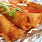 Lumpia - Filipino Shrimp and Pork Egg Rolls - Little Filipino spring rolls, stuffed with savory pork and shrimp, are deep fried to a crispy golden brown.