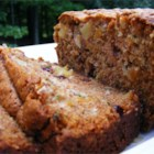 Zucchini Pineapple Bread - Moist zucchini bread is loaded with bits of pineapple, raisins, and walnuts.