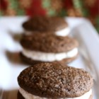 Moon Pies - Similar to whoopie pies, these soft chocolate cookies are sandwiched with a fluffy vanilla frosting.