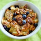 Blueberry Strata - Blueberries, cream cheese, and bread bake in a creamy custard to create the best breakfast ever!