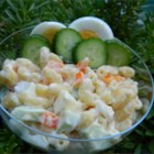 Macaroni Salad Virginia Style - A macaroni salad that utilizes tarragon vinegar for a delicious tangy taste. For optimum flavor, chill the salad 2 hours in the refrigerator before serving.