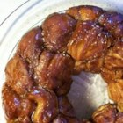Sticky Monkey Brains - This gooey cinnamon pull apart recipe will impress everyone in your family! It is an easy (and I mean EASY), fast, and tasty modification of my boyfriend's grandmother's monkey brain recipe. I use 6 small Bundt pans instead of one big one so the cinnamon balls are more gooey :) Fun to make and even more fun to eat!