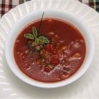 Nancy's Boiled Gazpacho - This chunky cold soup takes a little planning ahead, but it's worth the wait. Beef bouillon is dissolved in pure tomato juice, then just stir in a colorful combination of fresh veggies and set it in the fridge to chill.