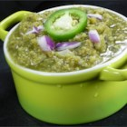 Chihuahua-Style Salsa Verde - The recipe for this versatile green sauce comes from Chihuahua, Mexico and can be used to add flavor to burgers, tamales, or really anything you like.