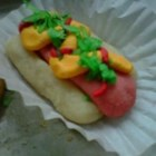 Hot Dog Cookies - These little treasures look just like little hot dogs! Perfect for children's parties or sporting events.