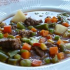 Texas Beef Soup - A hearty soup that even your husband will like.  My husband, who thinks soups are for the faint of heart, loves this recipe!  It's so quick and easy because of using the slow cooker. It's sure to be a family favorite!