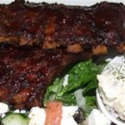 Honey Garlic Ribs - Easy to make, these ribs are delicious served either hot or at room temperature. So this is a great recipe for a casual dinner party that you can make ahead. The sauce is great served over rice.