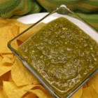 Roasted Spicy Salsa Verde - A bold green tomatillo and chile salsa has the authentic taste of grilled, charred peppers and fruity, tangy tomatillos.