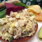 Tuna Egg Sandwich - This is just an old-fashioned tuna egg sandwich that is simple and quick to make! My grandparents make these and tell me that this is the 'correct' way to make a hearty sandwich!